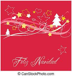 Christmas vector card or invitation