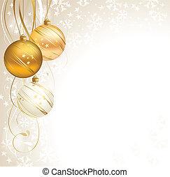 Christmas - good-looking Christmas backdrop with three balls...