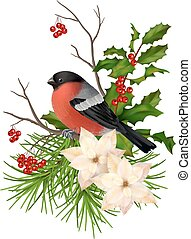 Christmas vector decorative composition
