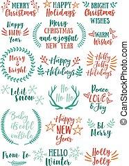 Christmas vector design elements