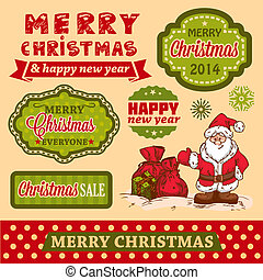 christmas vector design elements