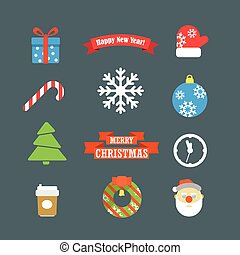 Christmas vector elements collection. Design template