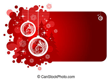 Christmas vector frame with holiday baubles