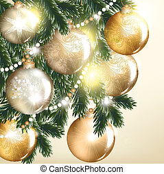 Christmas vector greeting card with