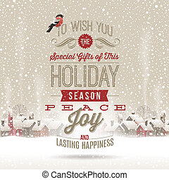 Christmas vector greetings - Christmas lettering greetings...
