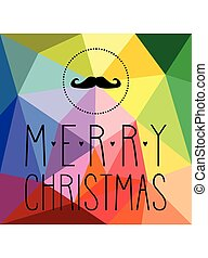 Christmas vector hipster card
