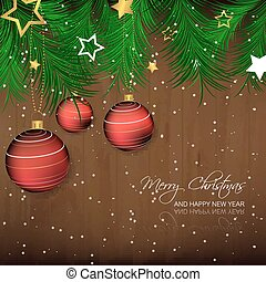 Christmas vector illustration - Christmas background with...