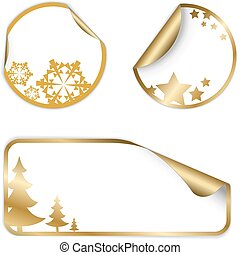 Christmas vector labels and stickers
