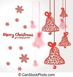 Christmas vector postcard illustration