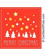 Christmas vector red card