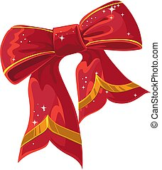 Christmas vector red decoration bow