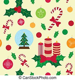 Christmas vector seamless pattern in flat design