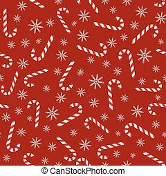 Christmas vector seamless pattern with candy canes - ...
