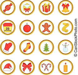 Christmas vector set, cartoon style
