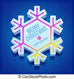 Christmas vector snowflake