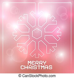 Christmas Vector Snowflake on Blurred Background