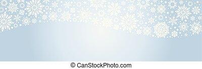 Christmas Vector snowflakes Blue web banner