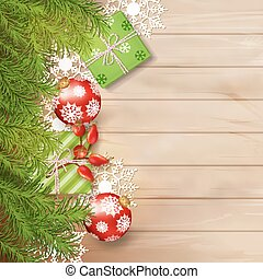 Christmas Vector Top View Background