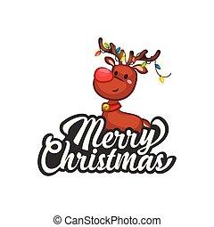Christmas Vectors - Greeting with Reindeer