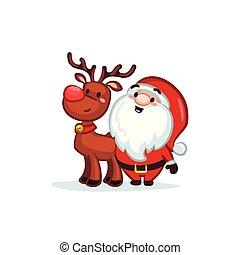 Christmas Vectors - Santa and Reindeer