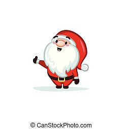Christmas Vectors - Santa Claus with Thumb-up