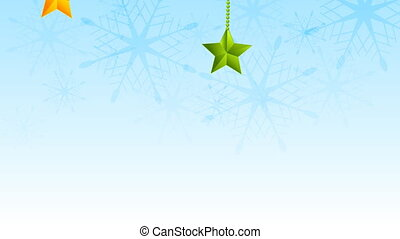 Christmas video animation with stars