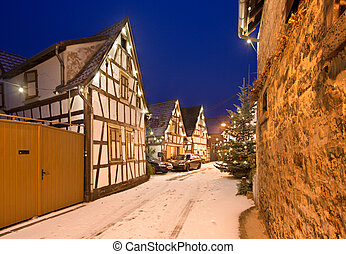Christmas Village, Germany - A christmassy decorated street...