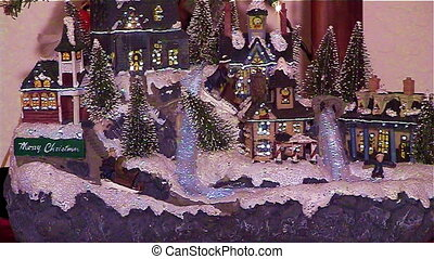 Christmas Village - Small lighted christmas village