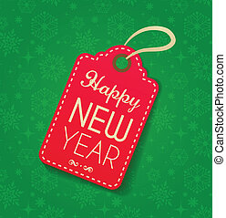 Christmas vintage background with label, sticker and ribbon