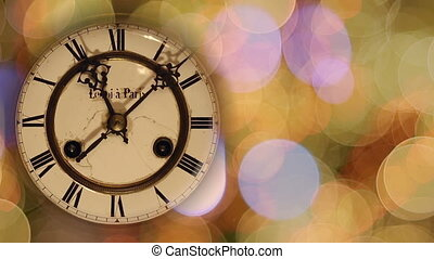 Christmas Vintage clock