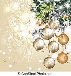 Christmas vintage vector greeting