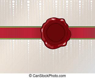 Christmas wax seal