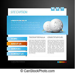 Christmas web page template - with 3d navigation items