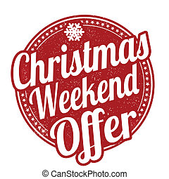 Christmas weekend offer stamp - Christmas weekend offer ...