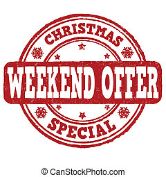 Christmas weekend offer stamp
