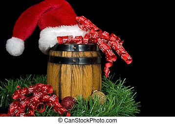 Christmas Whiskey Barrel