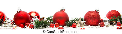 Christmas white background with christmas balls and decoration