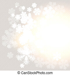Christmas winter background with snowflake. Vector illustration.
