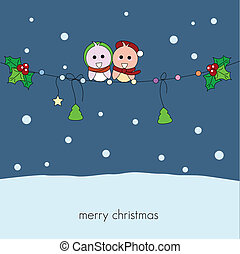 christmas winter birds