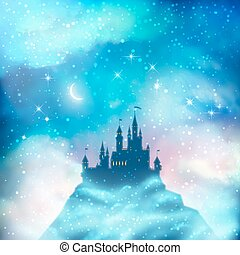Christmas Winter Castle - Christmas winter vector castle ...
