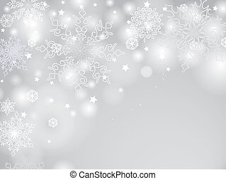 Christmas Winter Holiday background Blur light, snow...