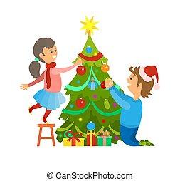 Christmas Winter Holidays Preparation Decoration