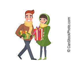 Christmas Winter Holidays Preparation Shopping