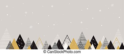 Christmas winter landscape background. Abstract Vector