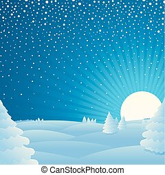 Christmas winter landscape background Picture