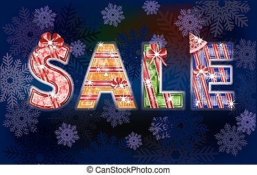 Christmas winter sale background