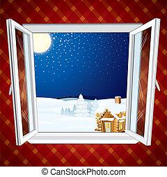 Christmas winter scene - Winter Christmas winter scene...