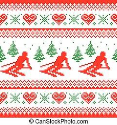 Christmas, winter seamless pattern