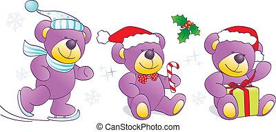 Christmas, winter Teddy bears