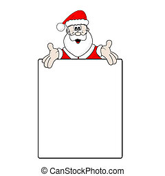 Christmas wish list - Santa Claus and a large blank wish...